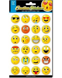 Emoji klistremerker - 24 stk
