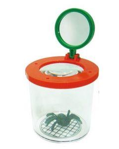 Forstørrelsesboks til insekter med edderkopp
