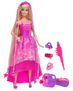 Barbie prinsesse med hårfletteverktøy