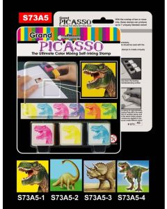 Stempelsett - dinosaur
