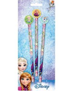 Disney Frozen blyant og viskelær - 3 stk