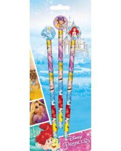 Disney Princess blyant og viskelær - 3 stk