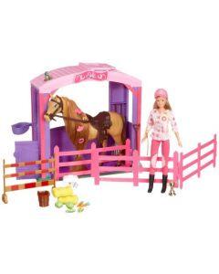 Steffi Love hestestall med dukke og hest