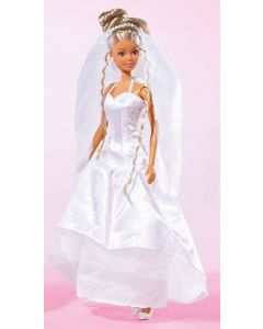 Steffi brud dukke - 29 cm