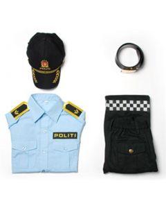 Norsk politiuniform i fire deler - 4-5 år