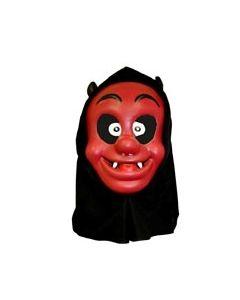 Halloweenmaske til barn med hette