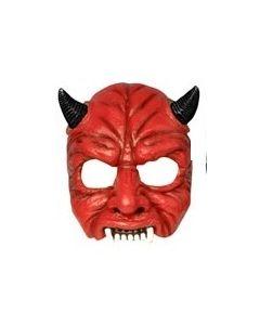 Halloweenmaske til voksen - djevel