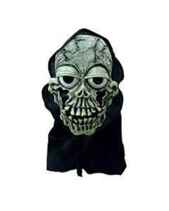 Halloweenmaske til barn med hette - skjelett