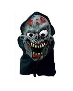 Halloweenmaske til barn med hette - zombie