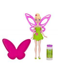 Disney Fairies Tinkerbell såpeboble-dukke - ca 20 cm