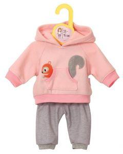 Baby Born dukkeklær - rosa joggedress L