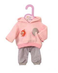 Baby Born dukkeklær - rosa joggedress S