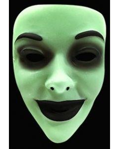 Selvlysende halloweenmaske til voksen - kvinne