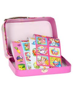 Shopkins koffert med klistremerker