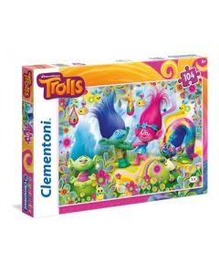 Clementoni Supercolor puslespill Trolls - 104 biter