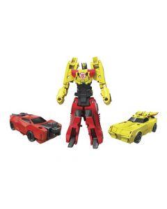 Transformers RID Crash combiners - Sideswipe vs Bumblebee