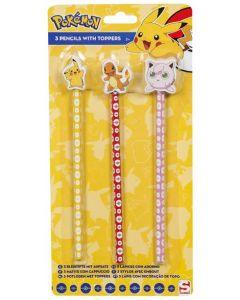 Pokemon blyant - 3 pack med topp