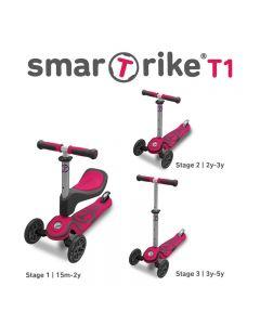Smart Trike T1 sparkesykkel - rosa
