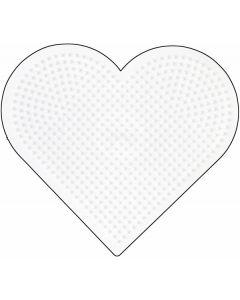 Hama Midi perlebrett - stort hjerte