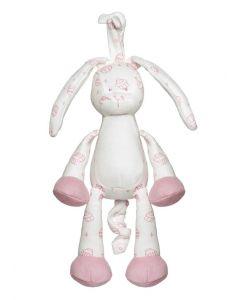 Teddykompaniet Diinglisar organic spilledåse 25 cm - rosa kanin