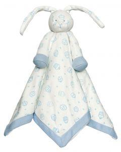 Teddykompaniet Diinglisar Organic sutteklut 35 x 35 cm - blå kanin