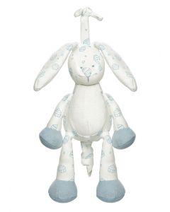 Teddykompaniet Diinglisar Organic spilledåse 25 cm - blå kanin