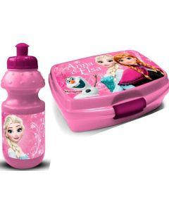 Disney Frozen matboks og drikkeflaske - rosa