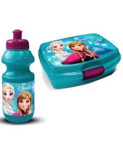 Disney Frozen matboks og drikkeflaske - grønn