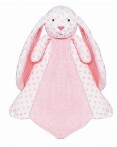 Teddykompaniet Big Ears kaninsutteklut 35 x 35 cm - rosa