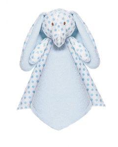 Teddykompaniet Big Ears sutteklut elefant 35 x 35 cm - blå