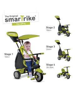 Smart Trike Glow 4 trikes in 1 grønn - Touch Steering