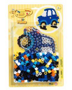 Hama Maxi blister 250 perler og perlebrett - bil