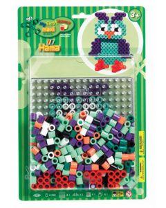 Hama Maxi blister 250 perler og perlebrett - ugle