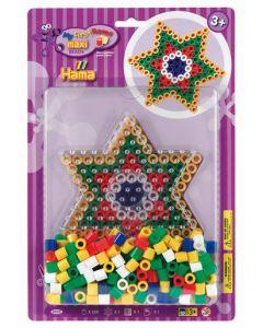 Hama Maxi blister 250 perler og perlebrett - stjerne