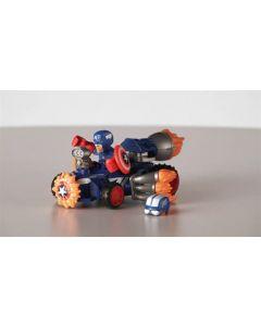 Avengers Super Hero Mashers micro figur og kjøretøy - Captain America