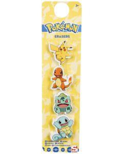 Pokemon viskelær - 4 pk