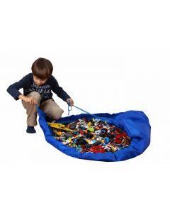 Oppbevaring og leketeppe - blå
