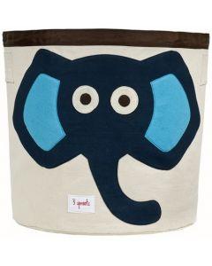 3 Sprouts lekekurv - blå elefant