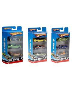 Hot Wheels 3 pakning med biler - assorterte modeller