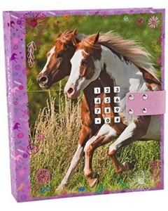Horses dreams dagbok med kodelås og lydeffekt - rosa