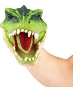 DinoWorld hånddukke - grønn