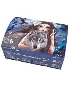 TOPModel smykkeskrin fantasy model - jente med ulv