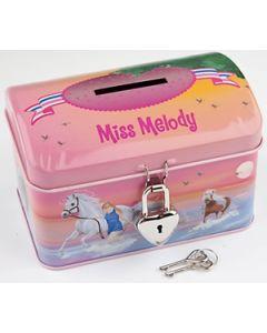 Miss Meldoy sparebøsse med lås - beach