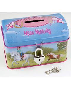 Miss Melody sparebøsse med lås - meadow