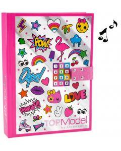 TOPModel dagbok med kodelås og musikk - icon