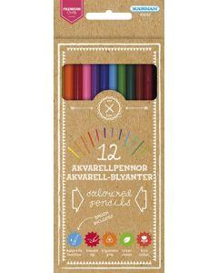 Kärnan premium akvarell fargeblyanter - 12 stk