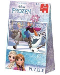 Disney Frozen Jumbo puslespill - 70 brikker i gavepose