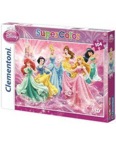 Clementoni Disney Princess puslespill - 104 brikker