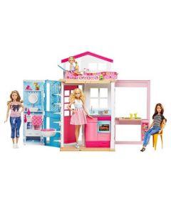Barbie dukkehus i to etasjer