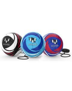 MESSI Treningsball med strikk - hvit/sort